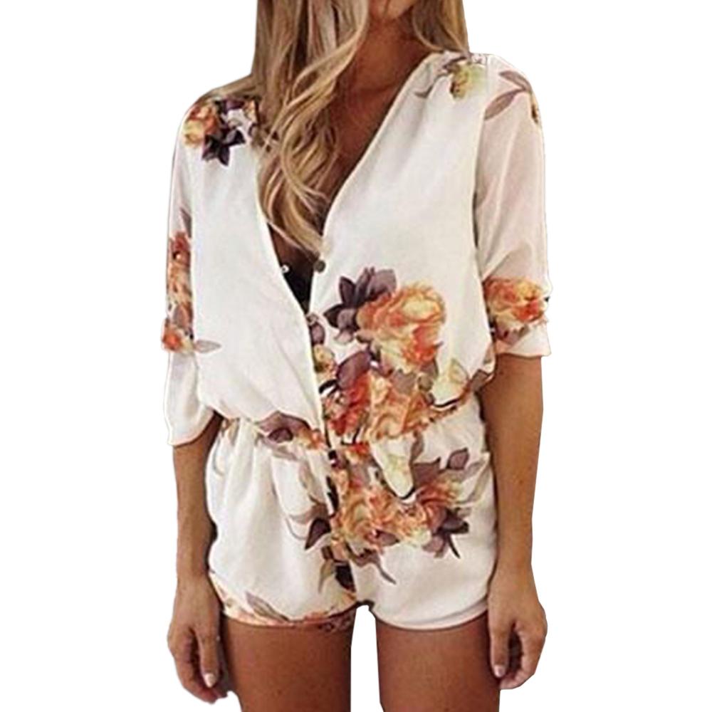 Sexy Women White Mini Celeb Romper Playsuit Jumpsuit Summer Shorts Beach Dress