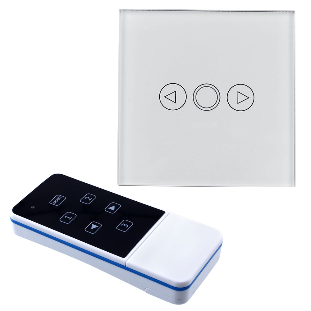 1 gang light led touch dimmer remote control white panel wall switch uk. Black Bedroom Furniture Sets. Home Design Ideas