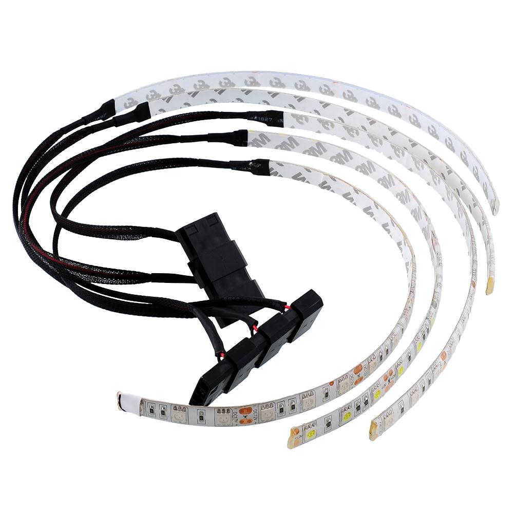 60cm flexible 18 smd led case strip light for pc computer decor lamp waterproof ebay. Black Bedroom Furniture Sets. Home Design Ideas