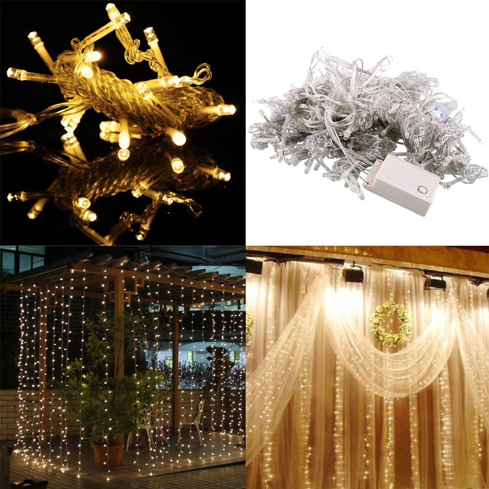 3mx3m 300 Led Christmas String Wedding Curtain Light Gorgeous 110v Room Decor
