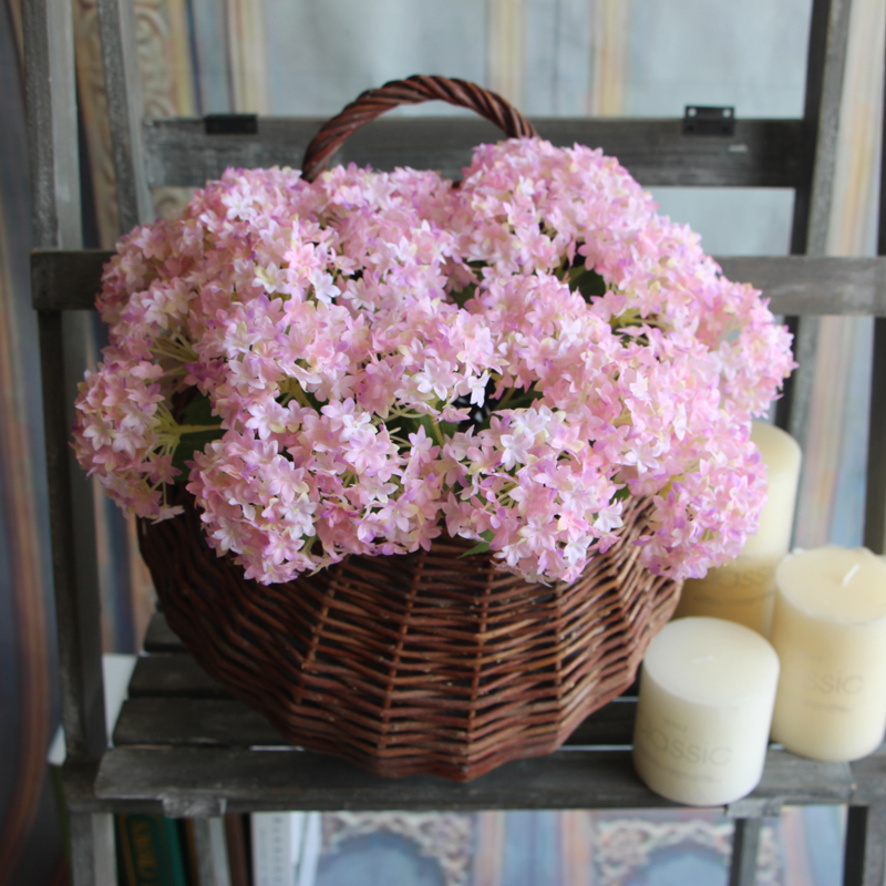 European Fake Silk Flower Branch Artificial Hydrangea Wedding Bridal Home