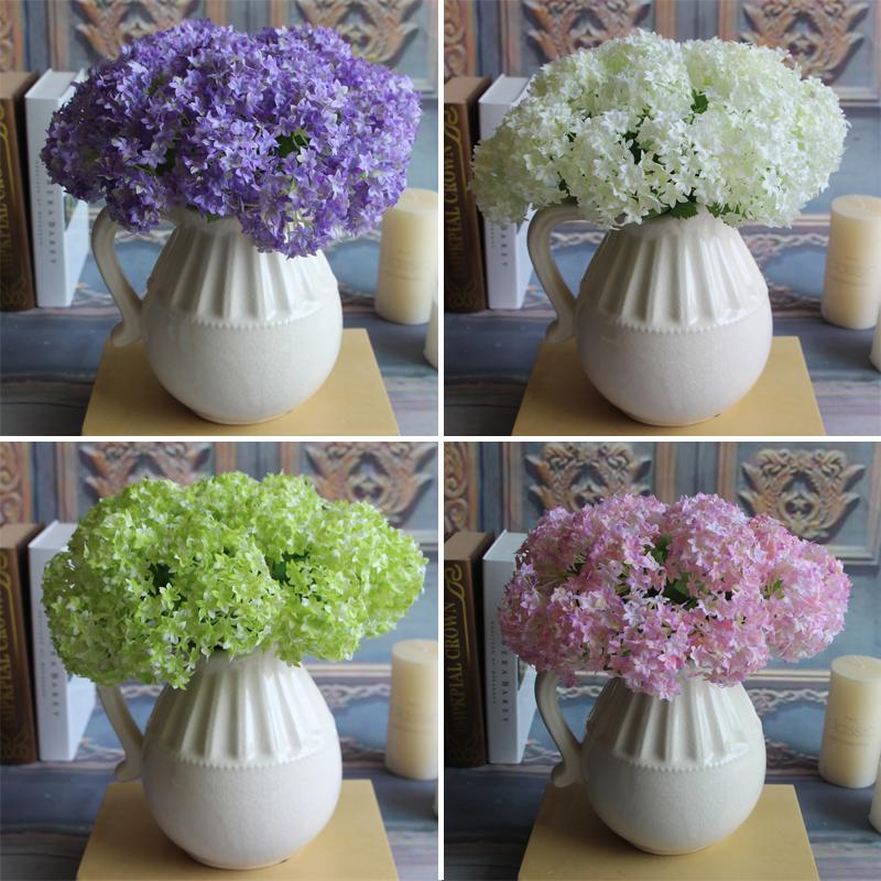 Flower Branch Artificial Hydrangea Wedding Party Flower Arrangement