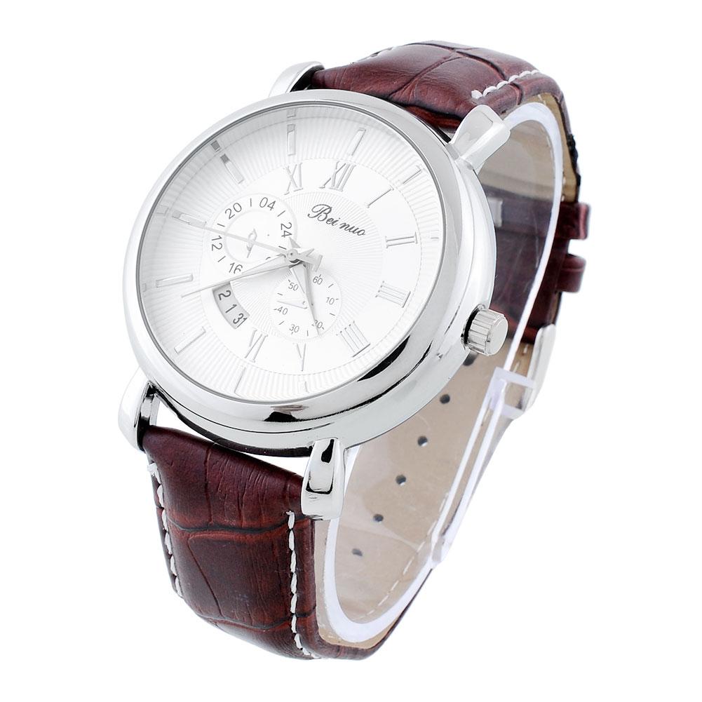 sport casual vintage watches leather band quartz