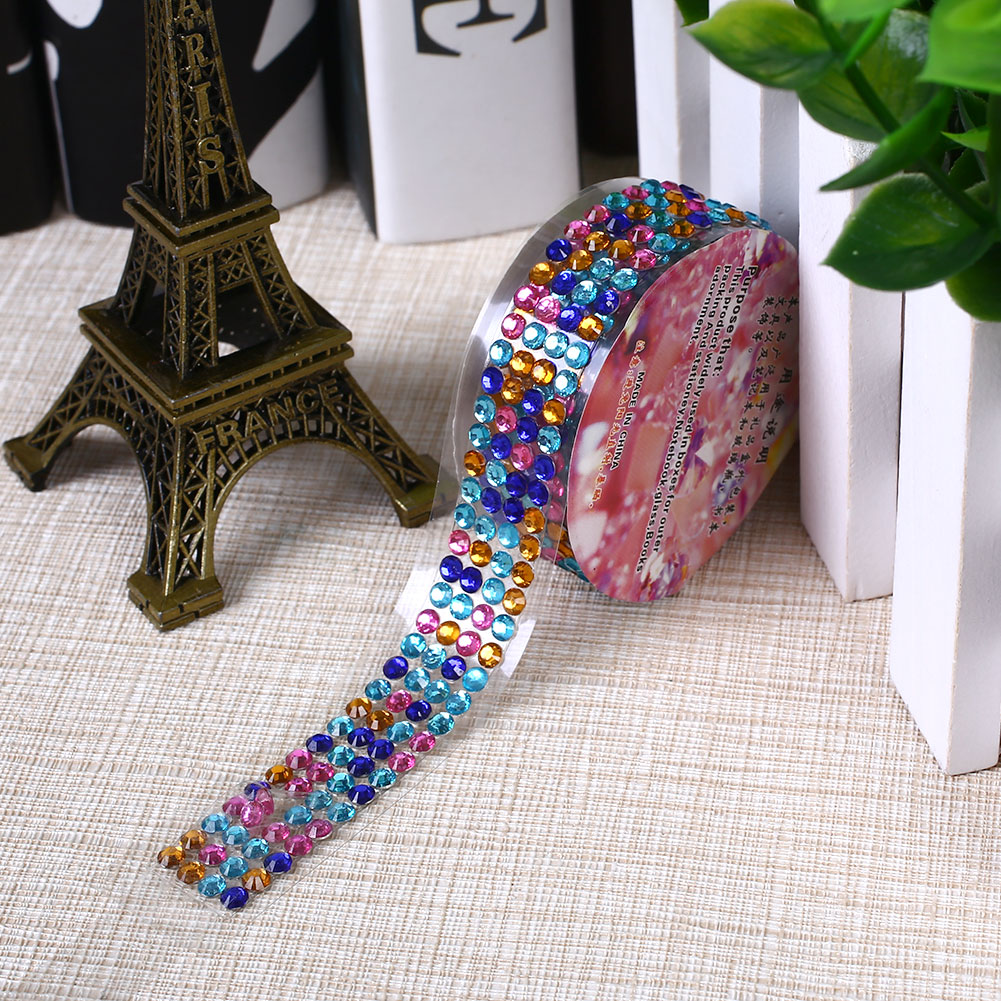Self adhesive acrylic rhinestones stick scrapbooking craft for Rhinestone jewels for crafts