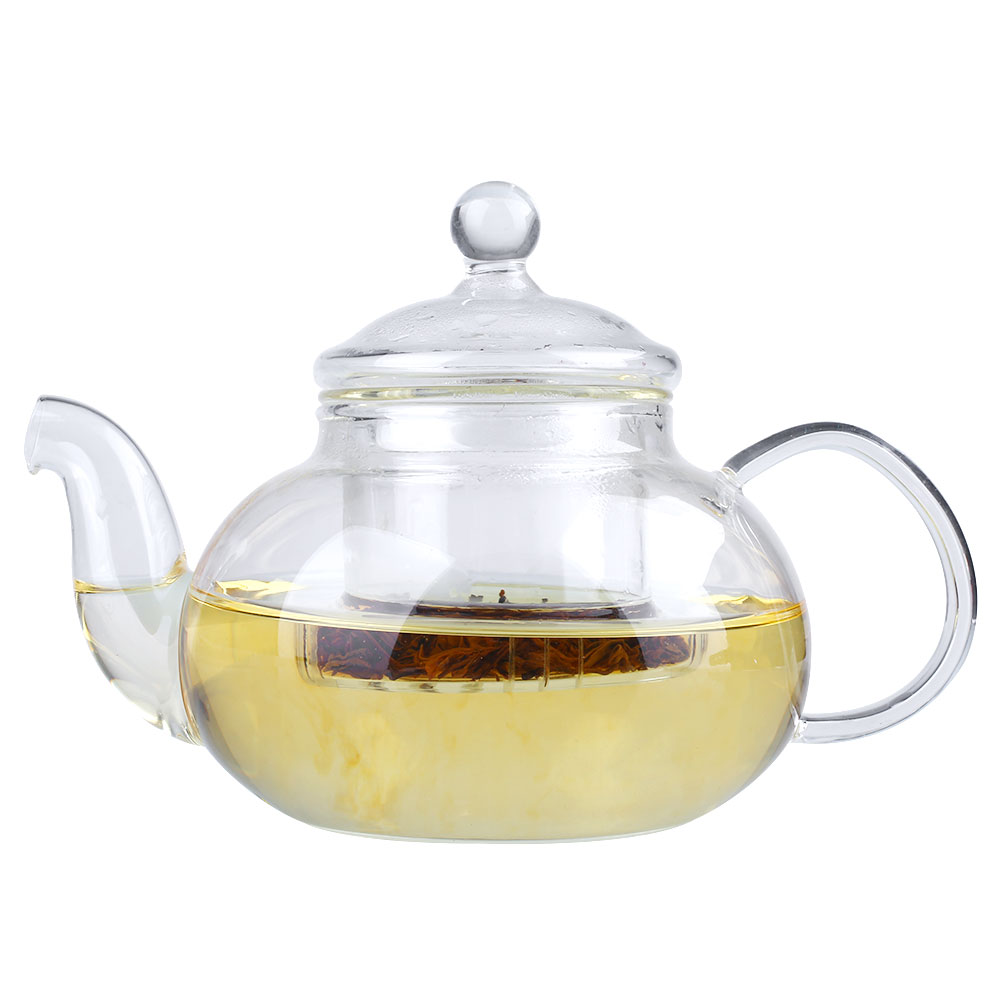 Heat Glass Teapot With Infuser Coffee Tea Leaf Herbal Tea Pot Set 400ml 1000ml