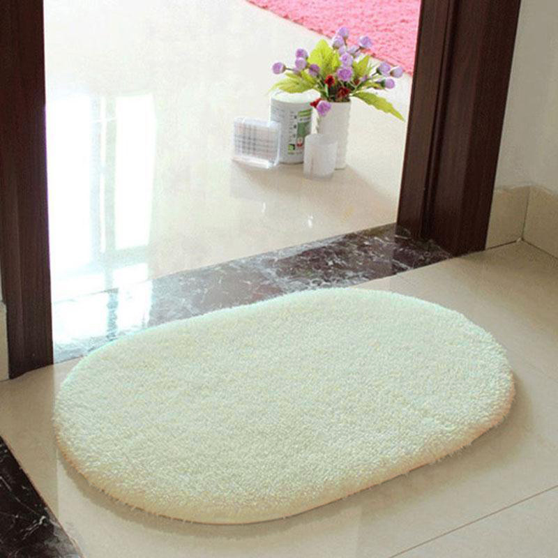 6A18-Anti-Skid-Fluffy-Area-Rug-Bedroom-Home-Bath-Floor-Shower-Door-Mat-5Color