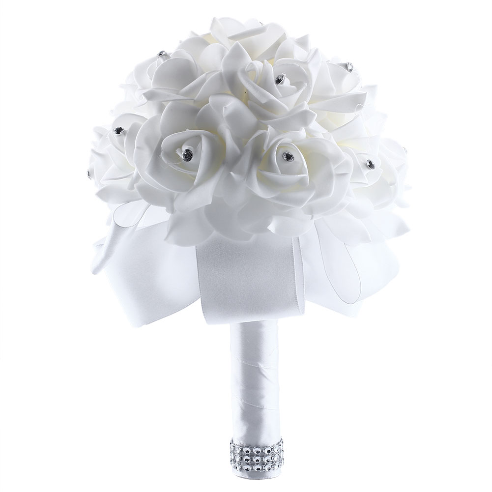 how to make a brooch bouquet with fake flowers