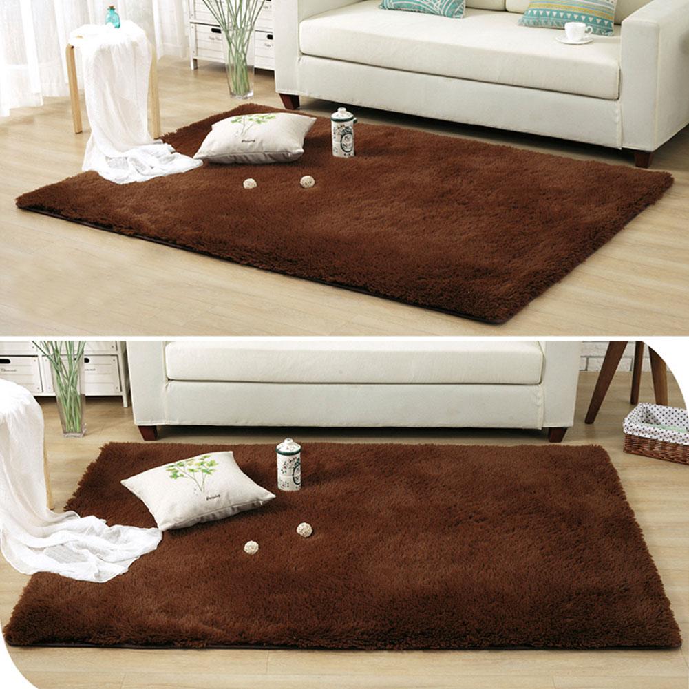 Anti-Skid Fluffy Shaggy Area Rug Bedroom Carpet Floor Mat