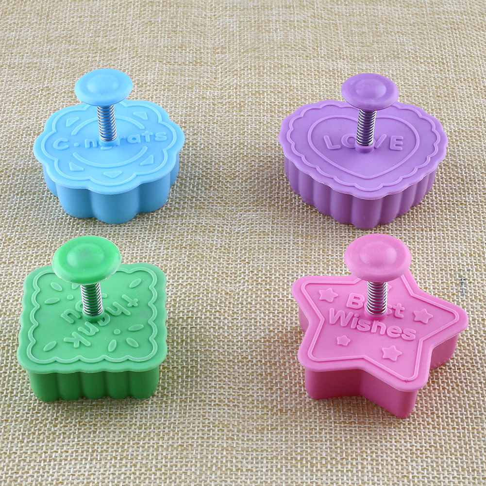 Cake Decorating Animal Molds : 4X Animal Cookie Biscuit Plunger Cutter Fondant Cake ...