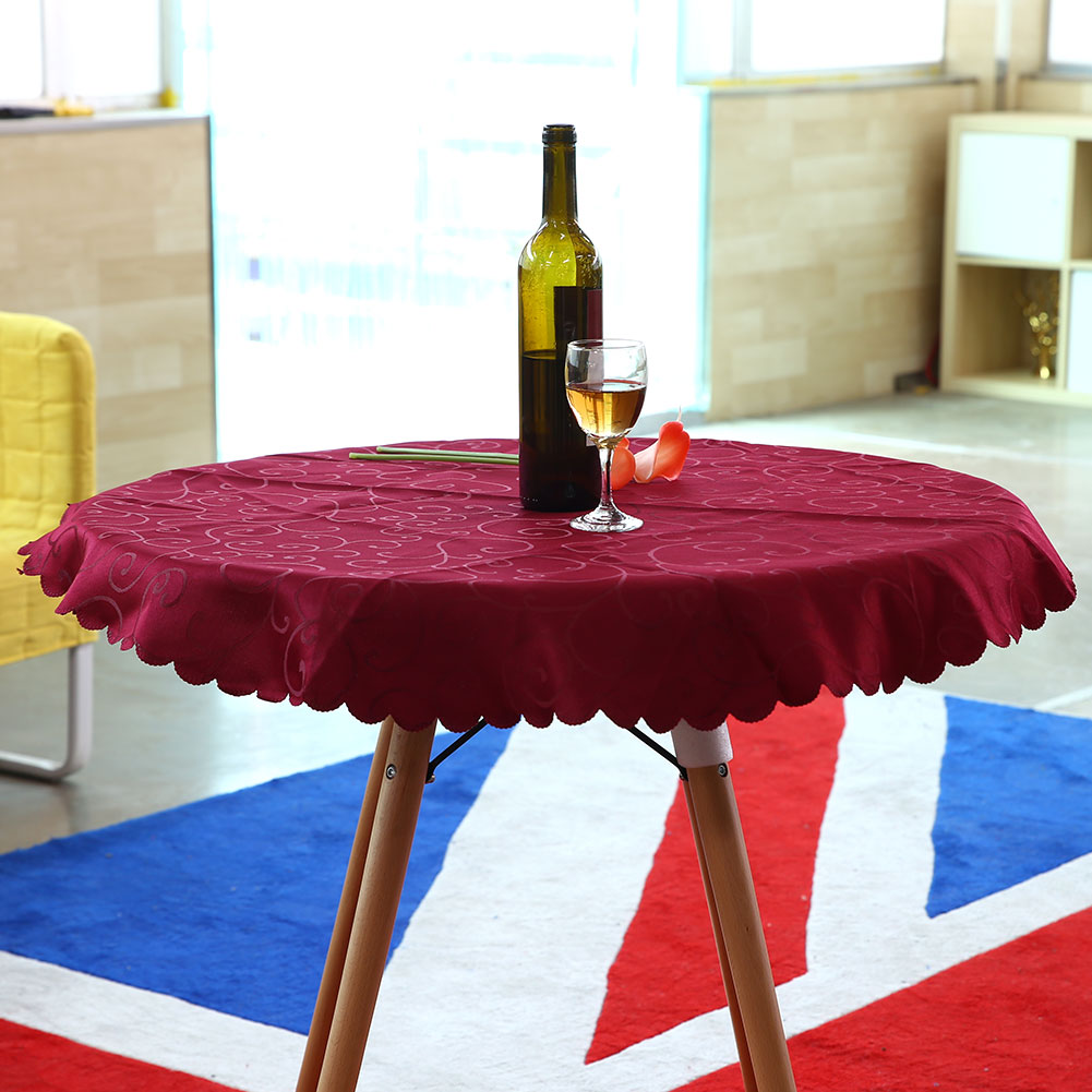 1m round tablecloth table cover cloth elegant flower for Table exterieur 1m