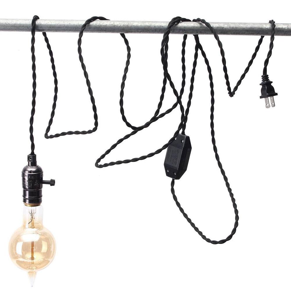 Pendant Light Bulb Wiring : E pendant lamp light bulb holder socket screw with