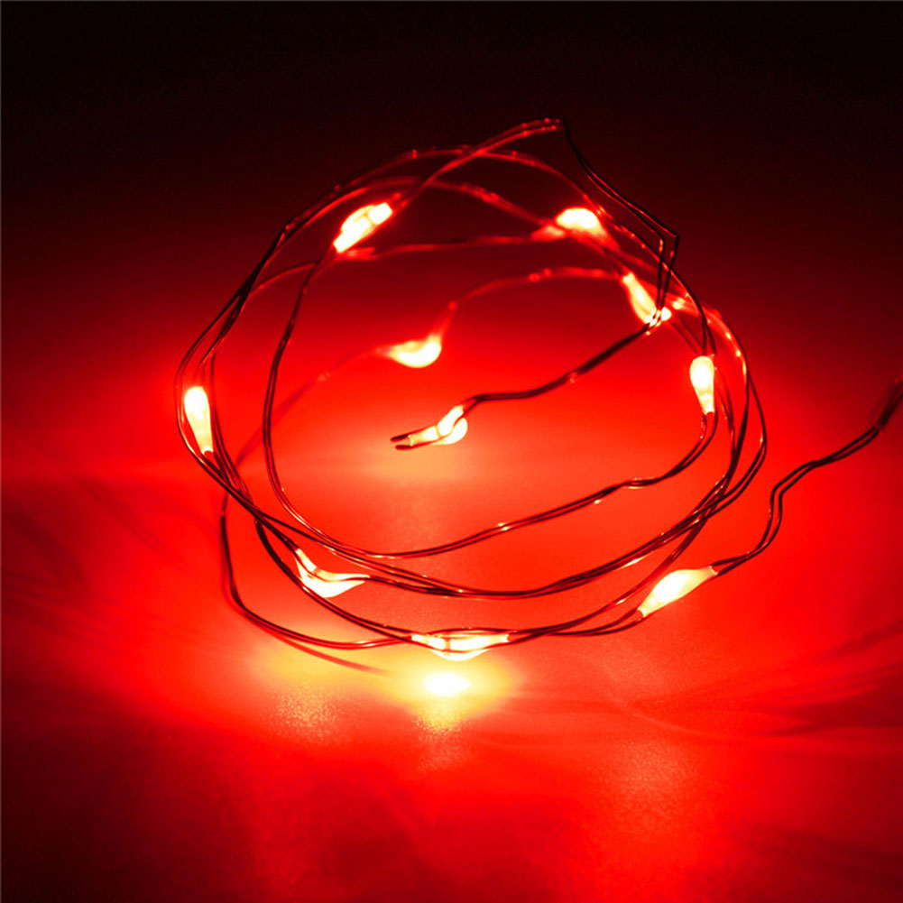 1m 10led copper wire string strip lights for cloth. Black Bedroom Furniture Sets. Home Design Ideas