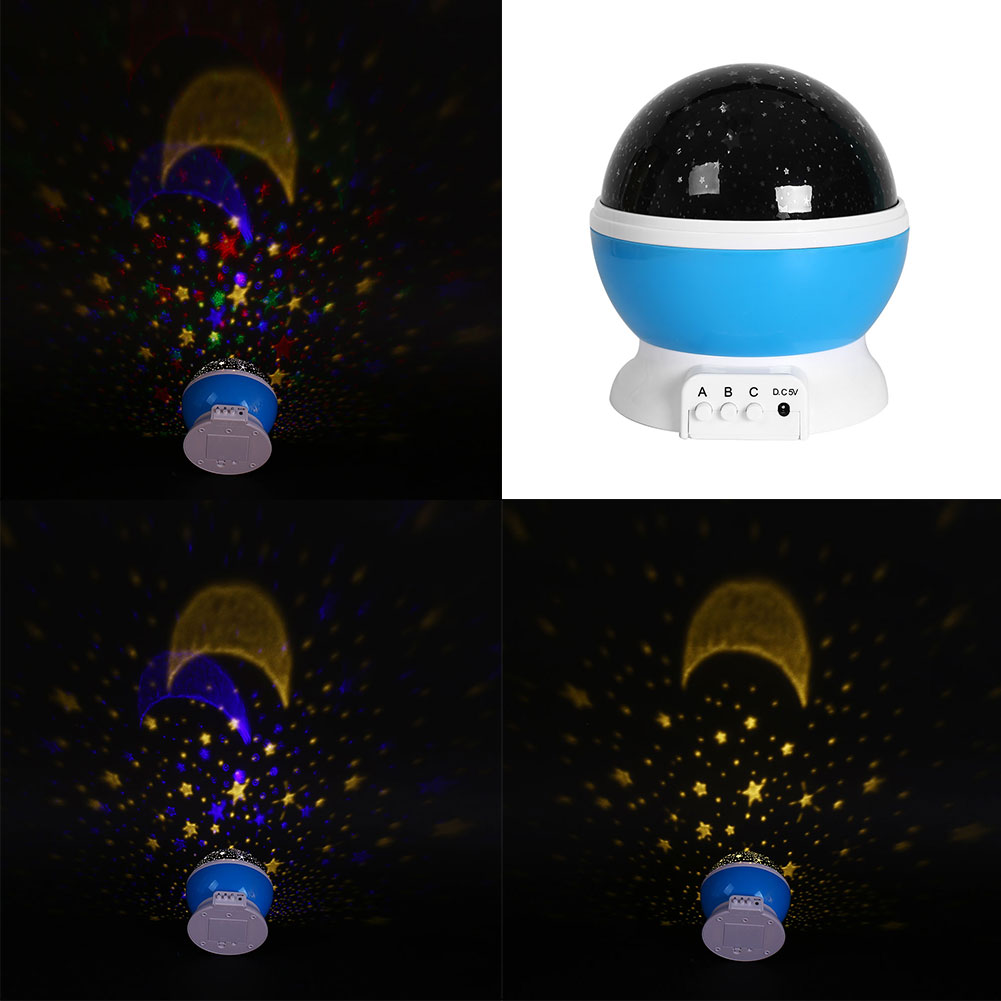 Baby Comos Starry Star Projector Romantic Usb Rotating