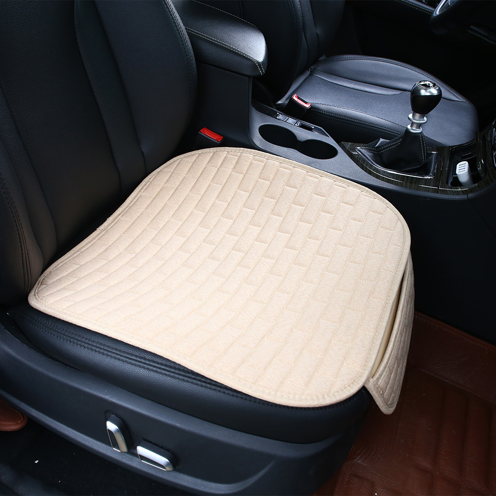 flax auto car interior front seat cover home office chair cushion mat pad ebay. Black Bedroom Furniture Sets. Home Design Ideas