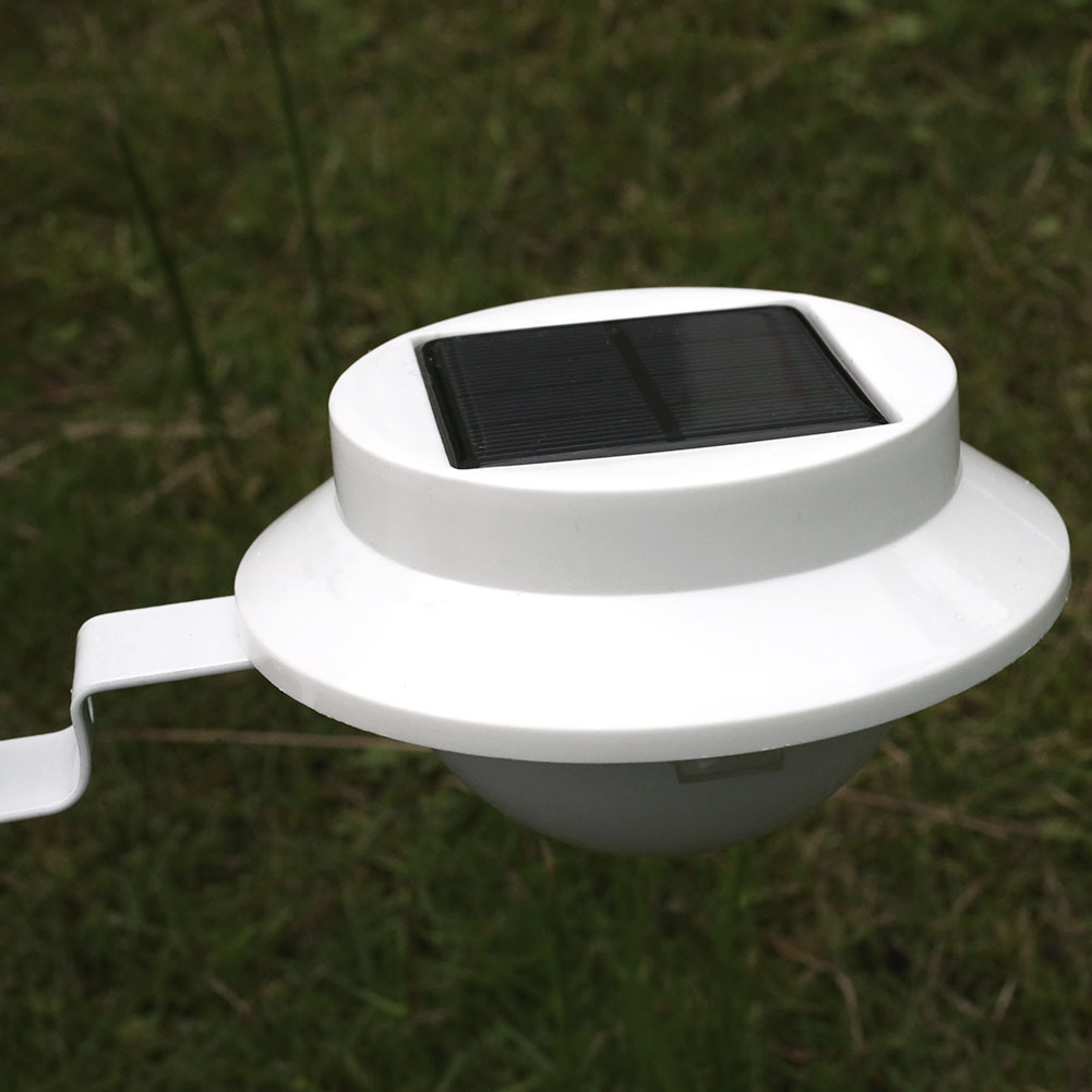 Solar Lights Roof: Solar Fence Roof 5-LED Sensor Light Outdoor For Garden
