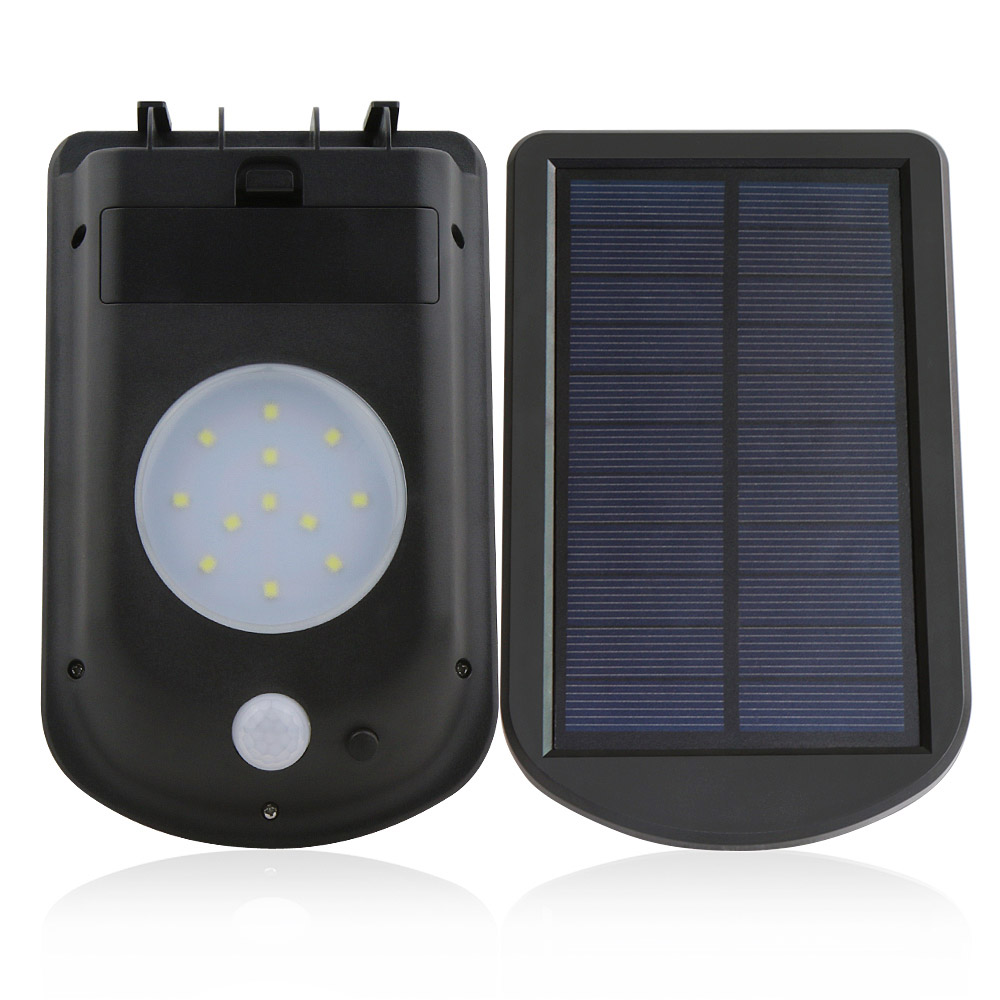 Solar 12led White Sensor Light 3mode Outdoor For Garden