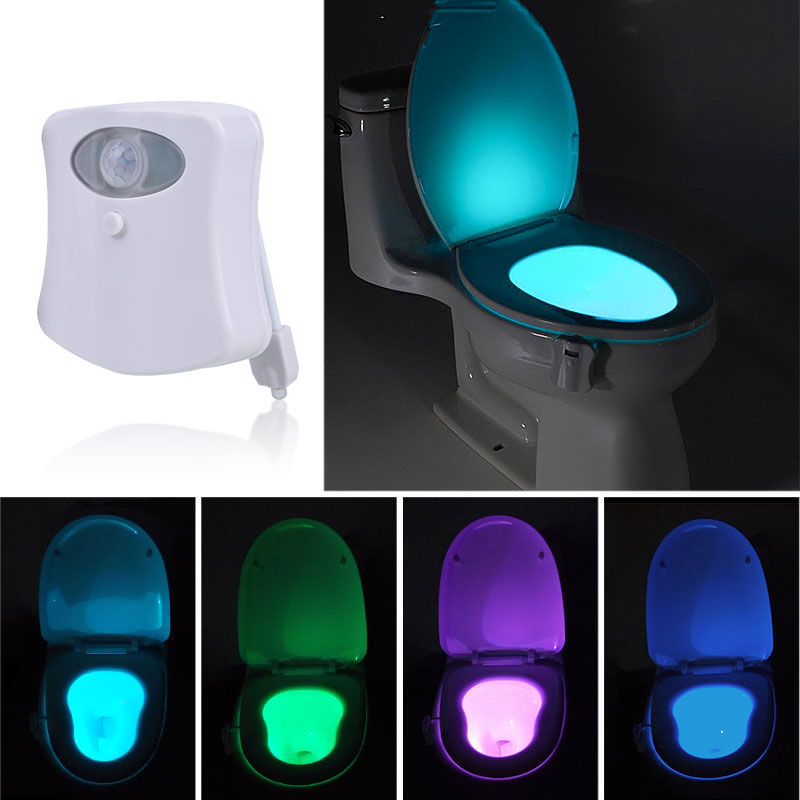 human body motion sensor sensor automatic seat led light toilet bowl bathroom ebay. Black Bedroom Furniture Sets. Home Design Ideas