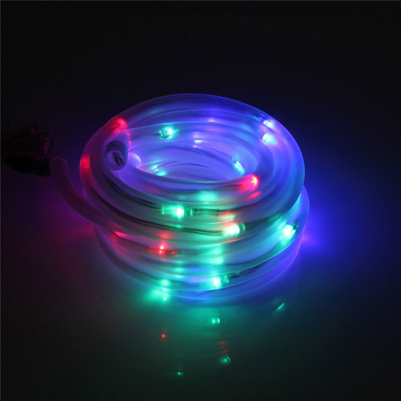 Led String Lights For Cars : 50-LED Solar Rope Tube Strip Light String Auto Control IP68 Outdoor Garden Party eBay