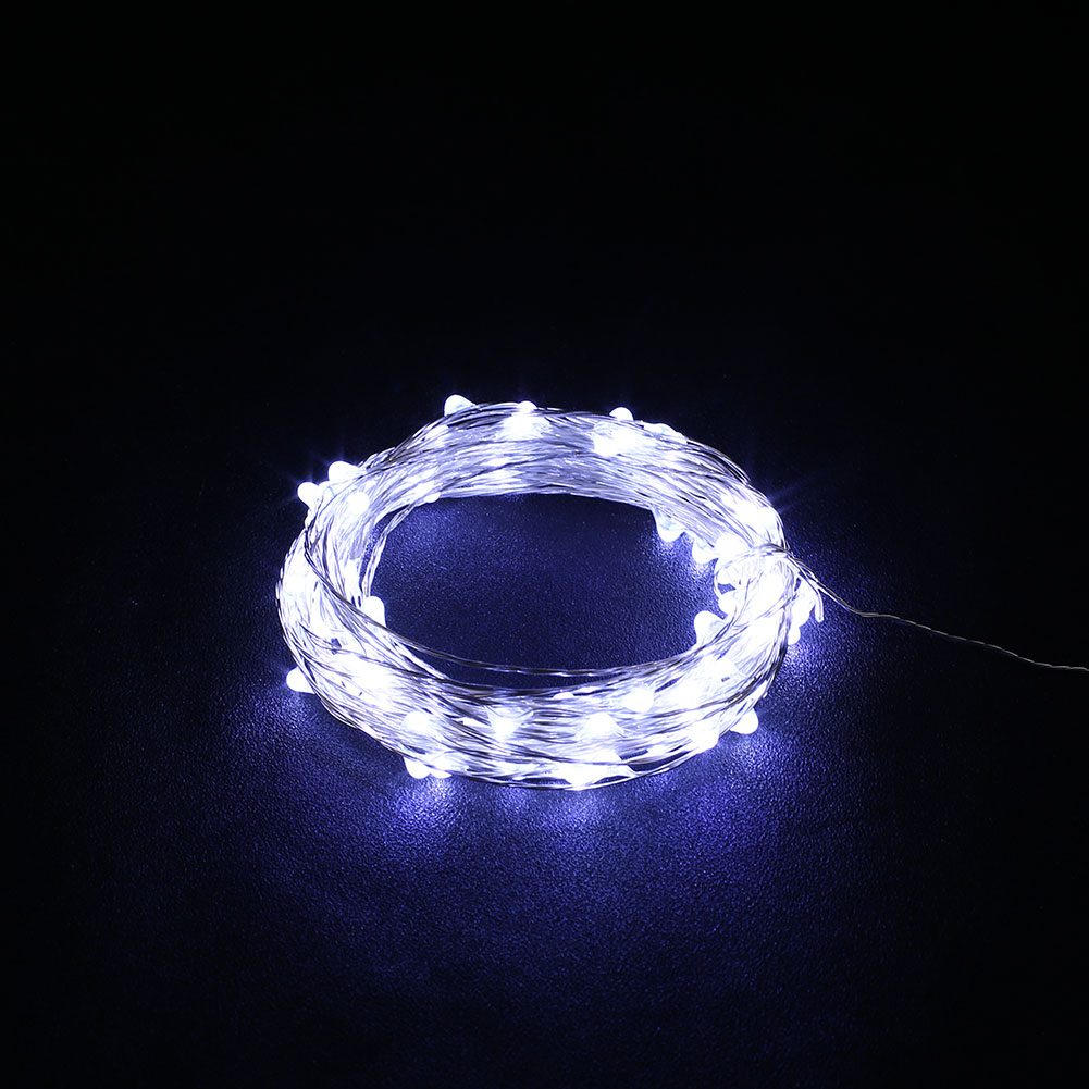 Led String Lights Usb : Outdoor Xmas 5M USB Christmas Copper Cord 50-LED Strip String Light Lamp