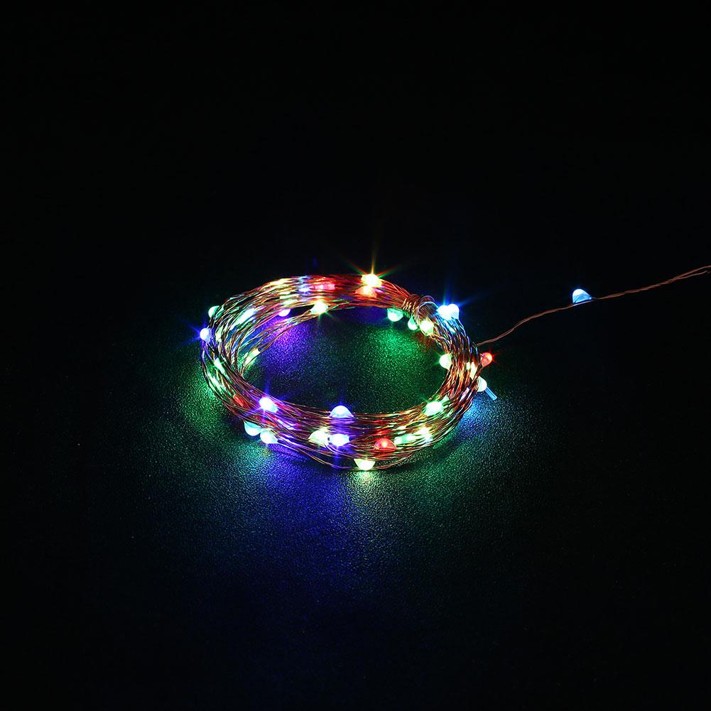 String Lights Xmas : Outdoor Xmas 5M USB Christmas Copper Cord 50-LED Strip String Light Lamp