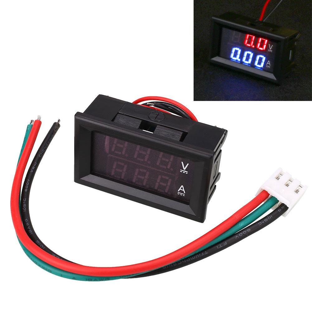Digital Current Meter : Led digital voltmeter ammeter dual display meter with