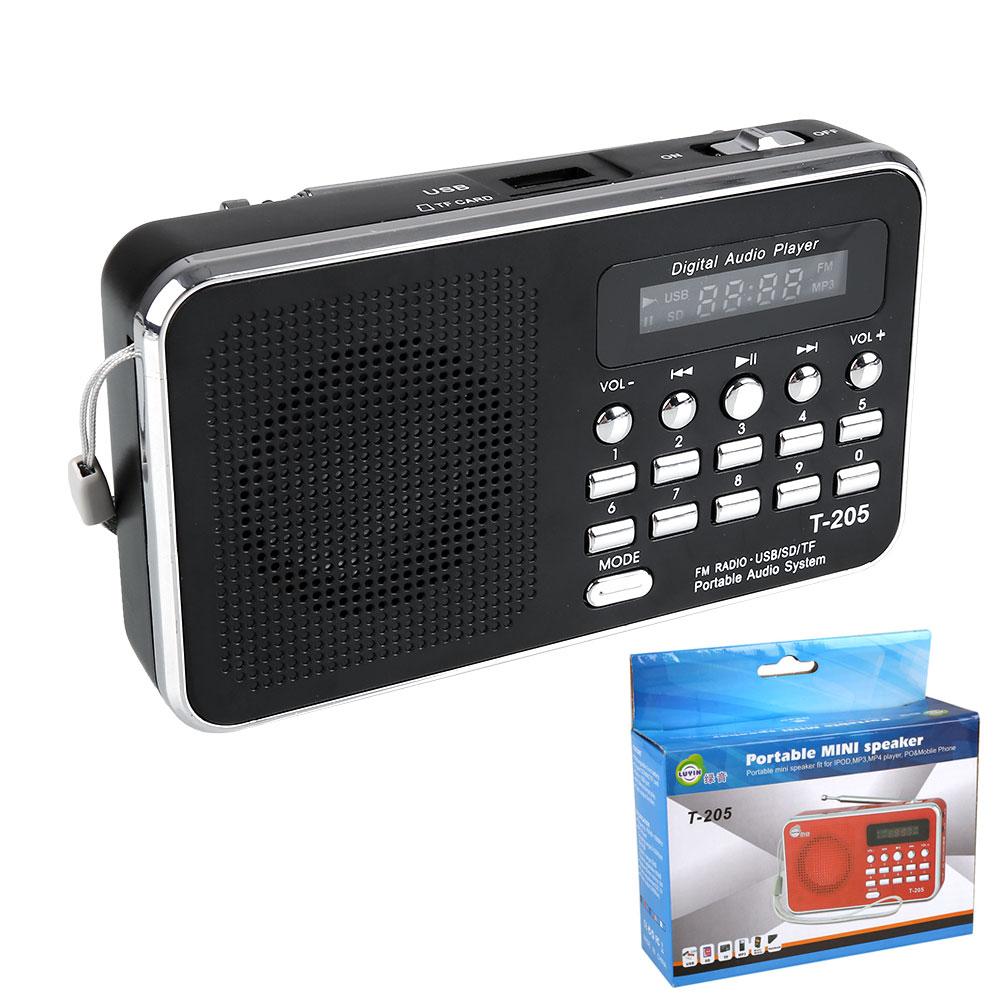 SD TF Card Slot USB Line In Speaker Digital Multimedia MP3