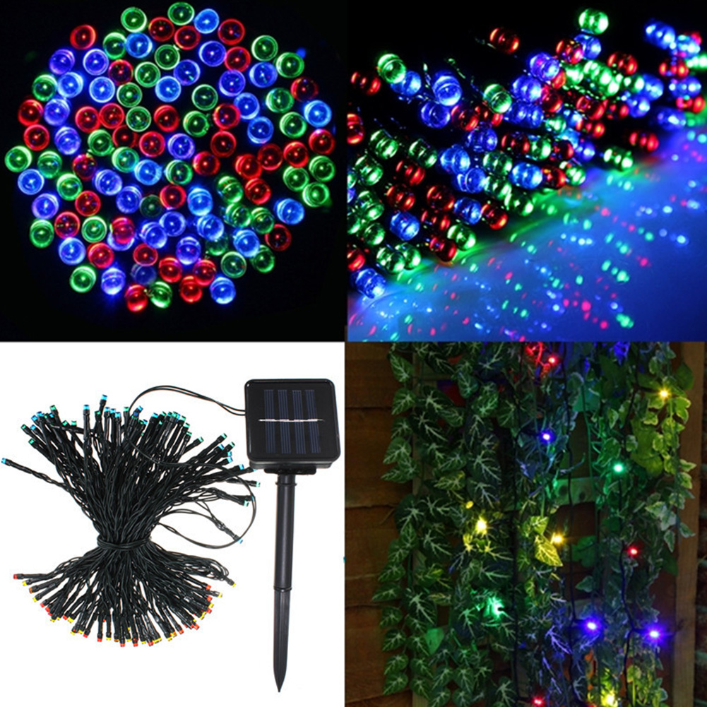 17M Xmas Solar Auto 100-LED String Light Cord For Garden Garland Decor Lamp eBay