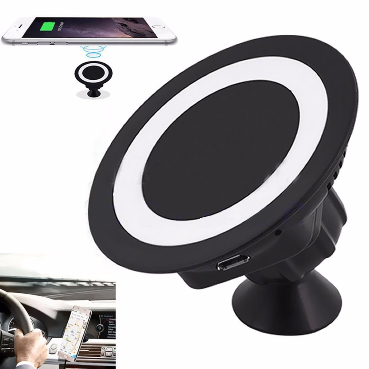 car wireless charger dock mount charging pad for samsung android phone ebay. Black Bedroom Furniture Sets. Home Design Ideas