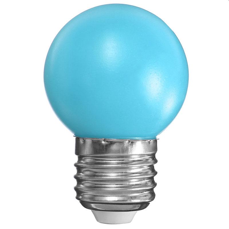 e27 1w 6 led pe bulb bright colorful 110 240v for home. Black Bedroom Furniture Sets. Home Design Ideas