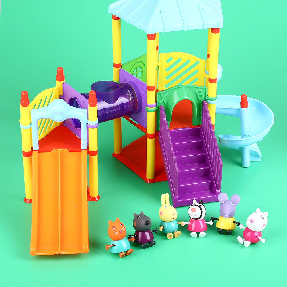 NEW Peppa Pig Amusement Park With Friends Action Figures