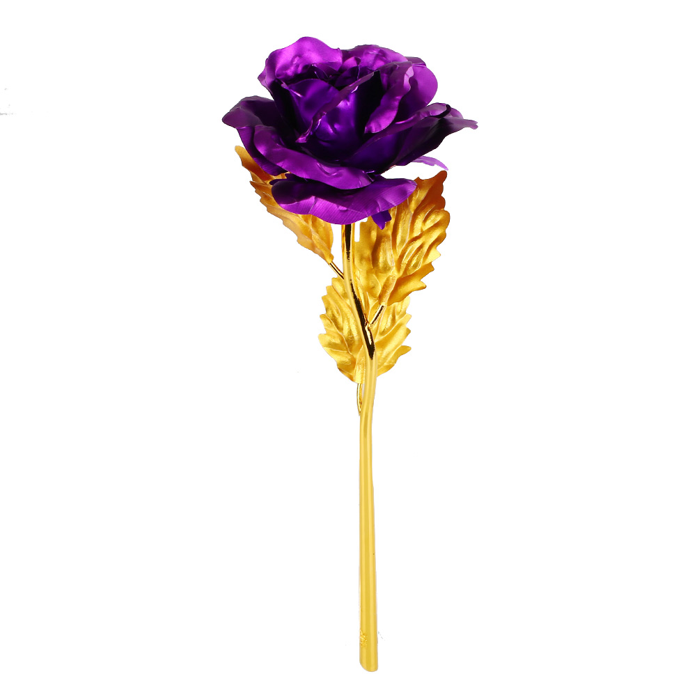 F26F-Romantic-24K-Golden-Rose-Flower-Wedding-Festive-Decoration-Without-Box