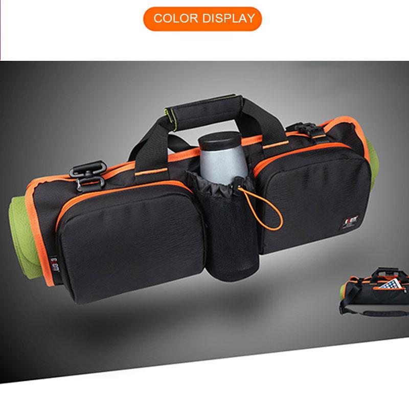 Yoga Pilates Mat Bag Multi Pocket Folding Portable