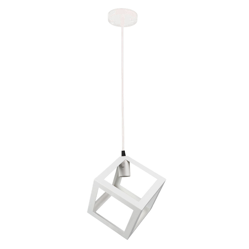 Ceiling Light Cable Cover : E bulb cage guard ceiling pendant square shape cover shade light cafe w cable