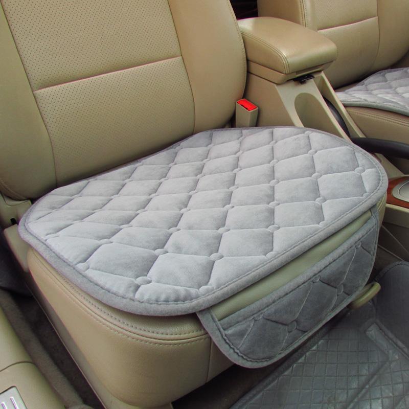 single front auto car vehicles seat cushion cover mat plush anti skid universal ebay. Black Bedroom Furniture Sets. Home Design Ideas