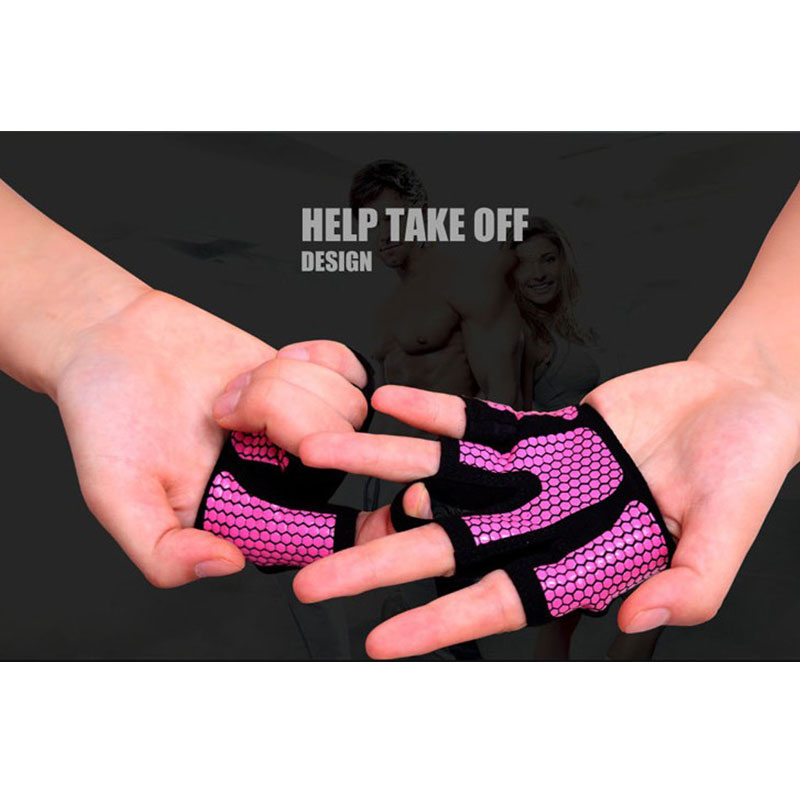 Emerge Fitness Crossfit Gloves: Pair Half Four-Finger Breathable Gloves Weight Lifting Non
