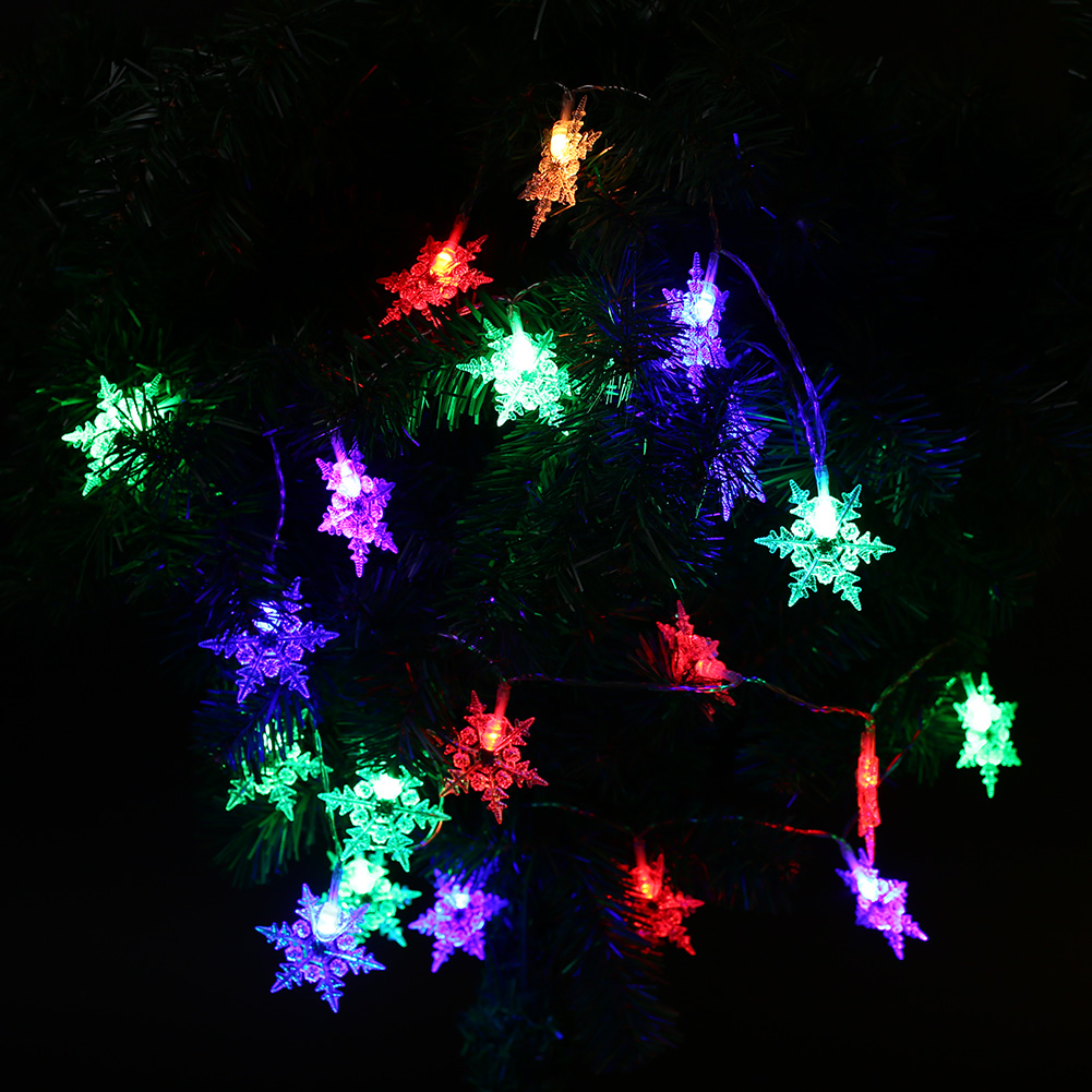 Outdoor Xmas Christmas Snowflake LED Strip Flashing String Light Home Lamp eBay