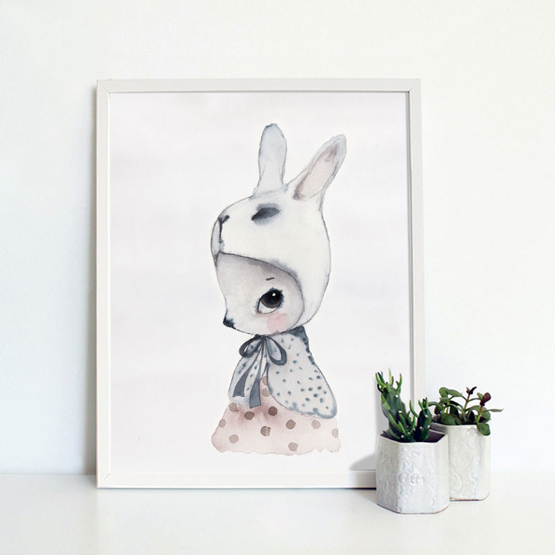Rabbit pattern pictures modern home wall decor canvas oil for Rabbit decorations home