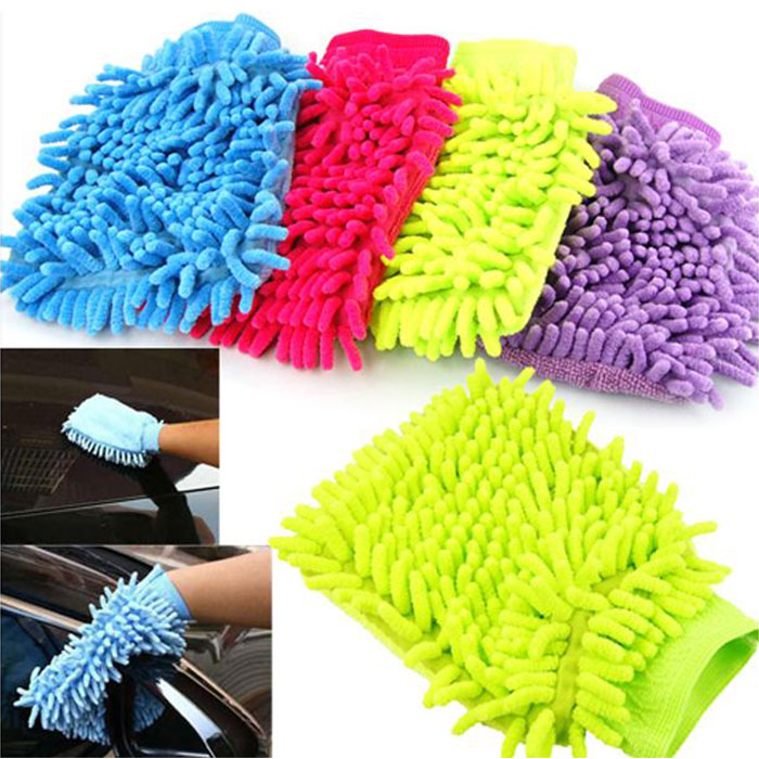 Zip Soft Microfiber Towel: Car Vehicle Microfiber Soft Hand Towel Coral Chenille