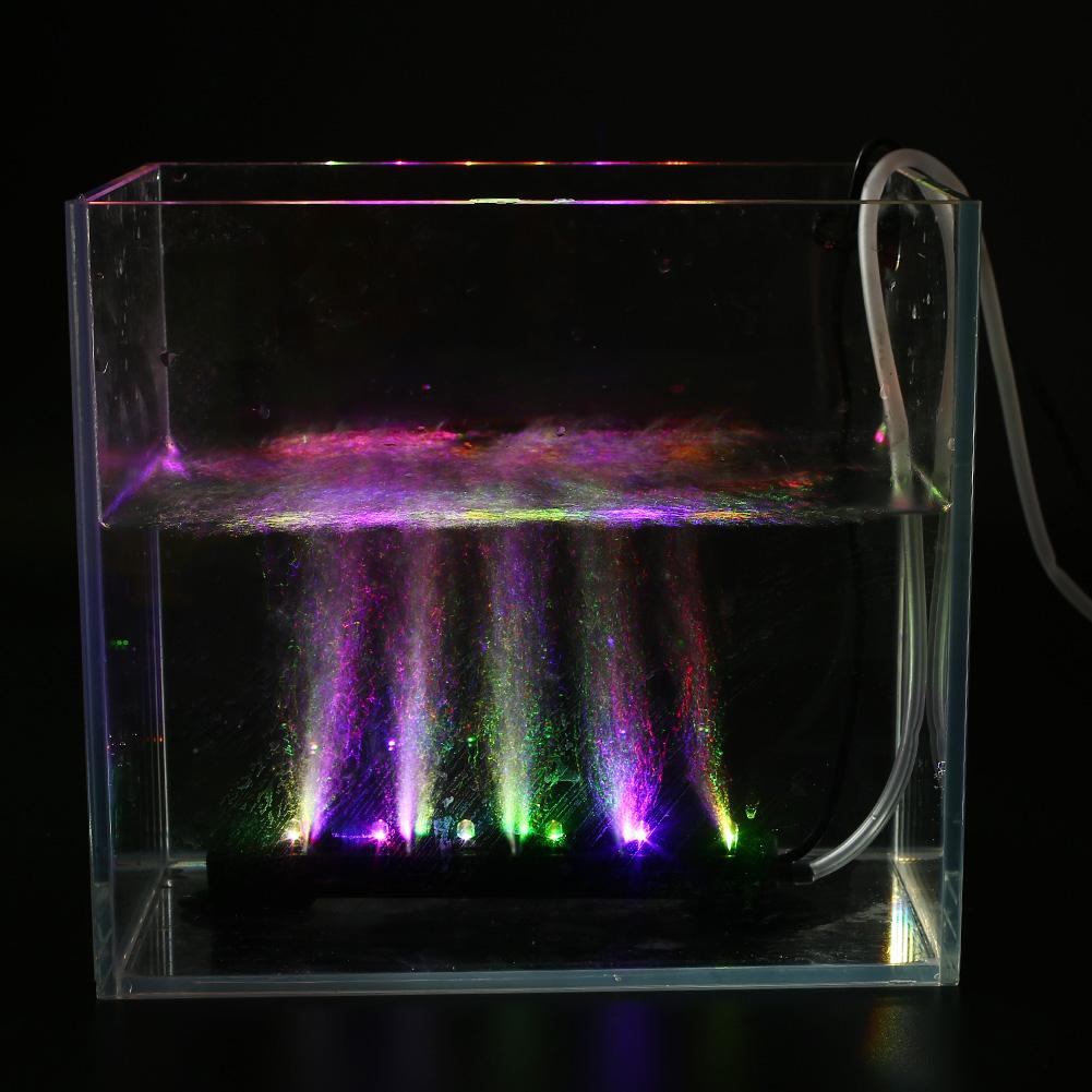 16cm dc 12v led air bubble light water home aquarium fish for Tube fish tank