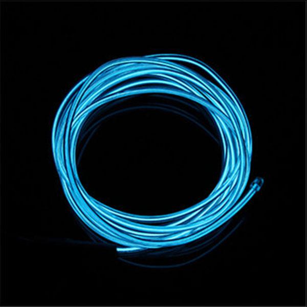 5M 12V Car Neon Xmas Christmas Glow Light EL Wire Strip Dance Party ...