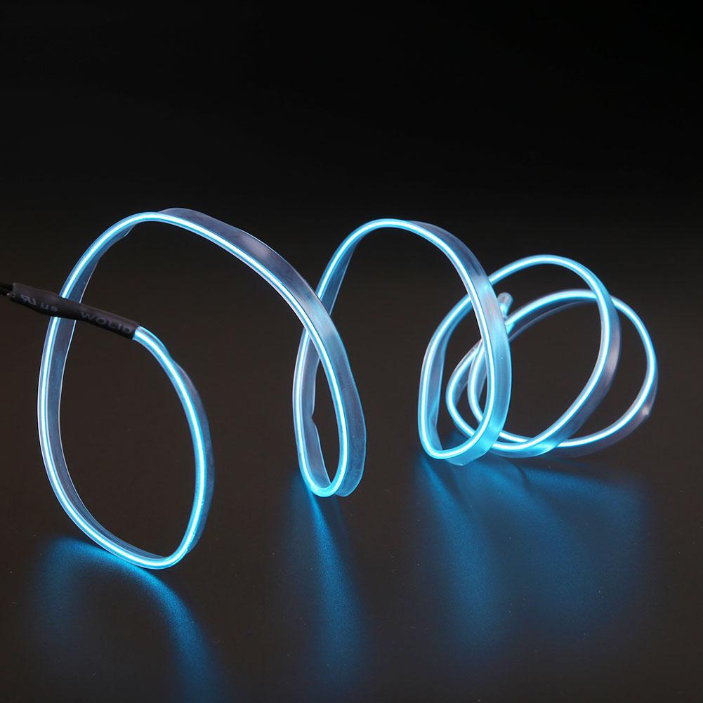 5M 12V Car Neon Xmas DIY Light Inverter Flexible EL Wire Strip ...