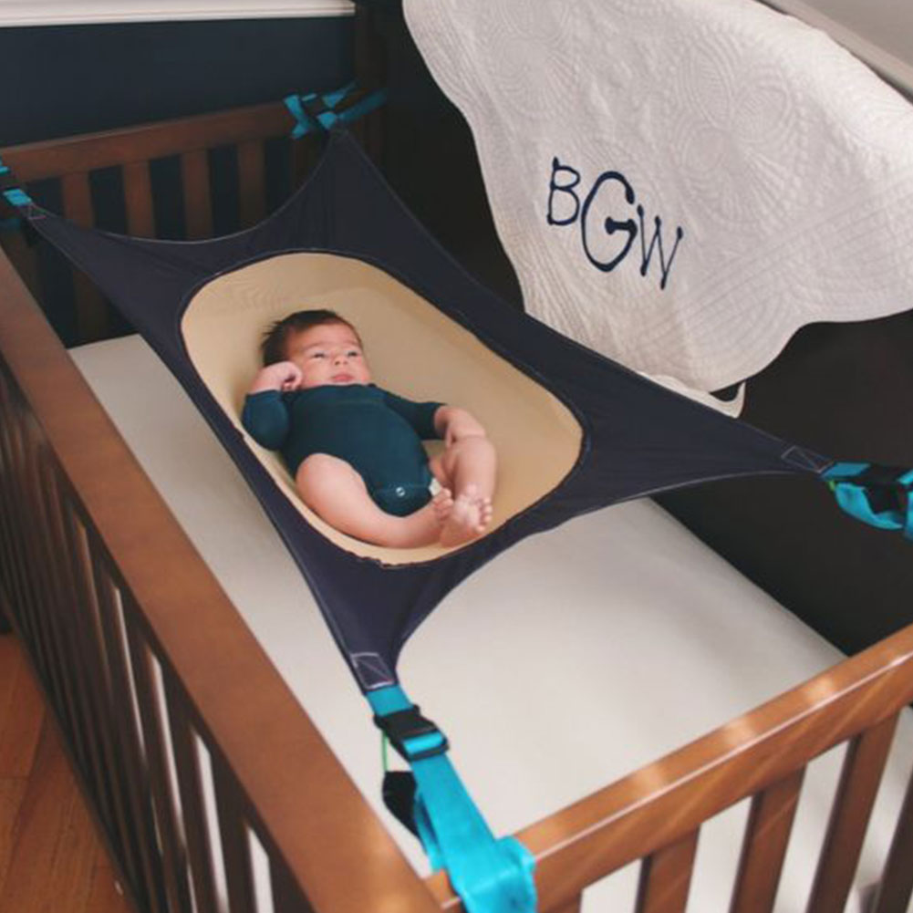 Baby crib hammock - Kids Baby Healthy Development Crib Hammock Holder Elastic