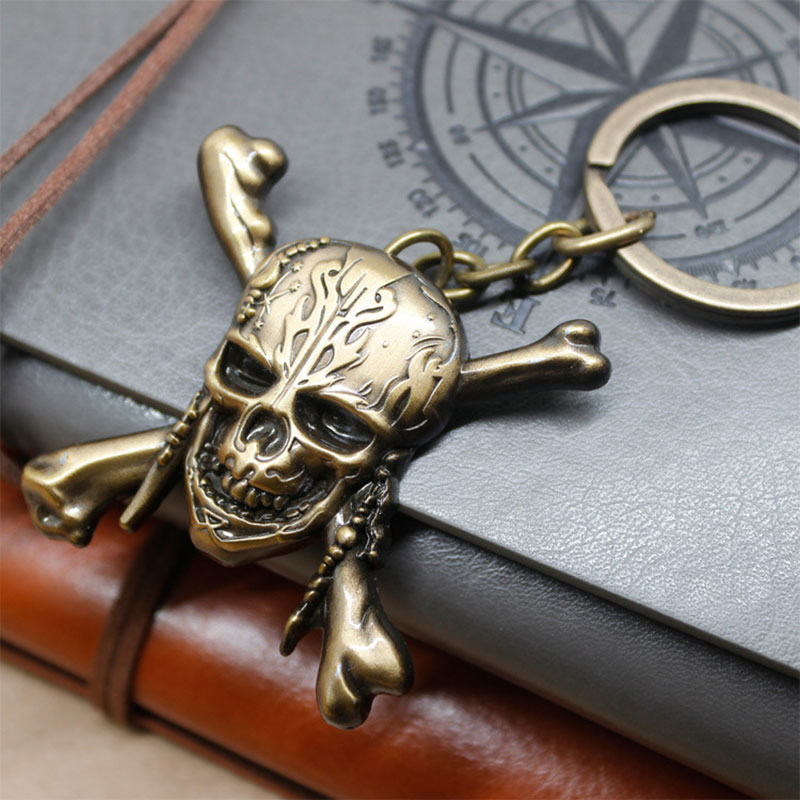 73BF-Pirates-Of-The-Caribbean-Skull-Keychain-Key-Rings-Necklace-Pendant-Gift