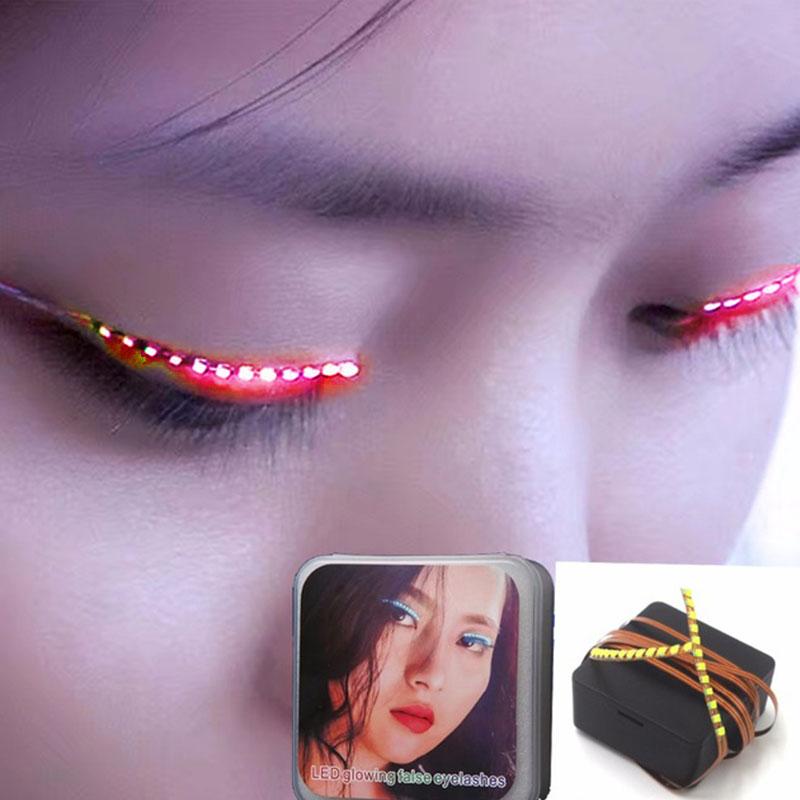 1405-Women-Flashes-LED-False-Eyelashes-Electronic-Waterproof-Fake-Eyelashes