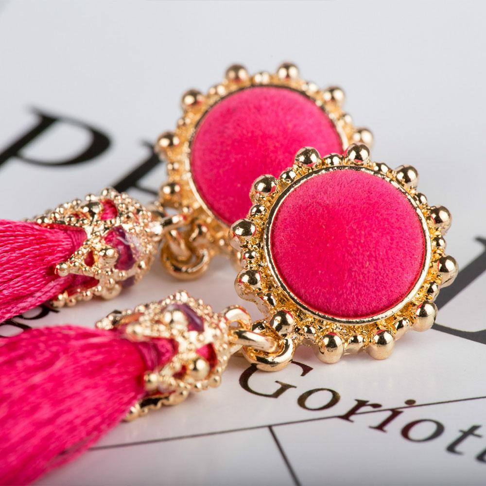057F-Boho-Women-039-s-Long-Tassle-Earring-wedding-Alloy-Ear-Studs-Vintage-Ornament