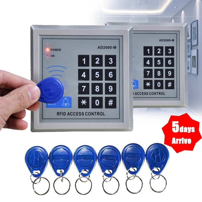 rfid door entry keypad lock access system complete kit set 10pcs keys fobs. Black Bedroom Furniture Sets. Home Design Ideas