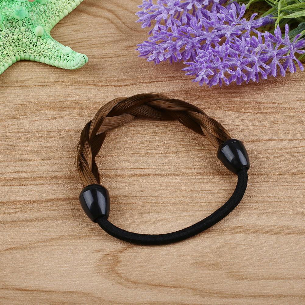 Womens Braid Straight Wig Elastic Hair Band Headband