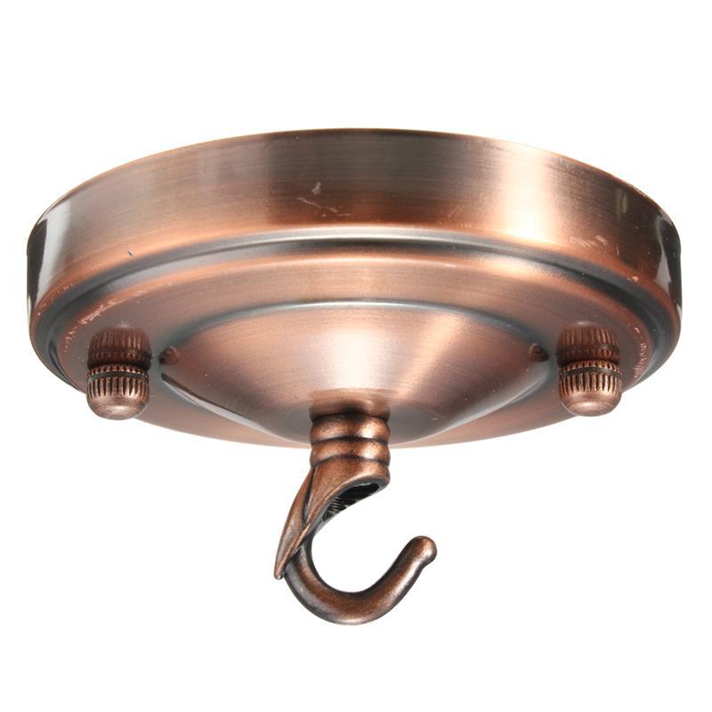 Retro Ceiling Hook Plate Holder Chandelier Pendant For