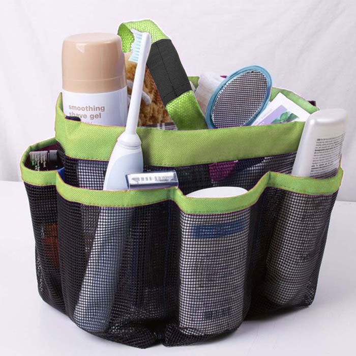 Dorm Bathroom Caddy: 8 Pockets Mesh Tote Handle Dorm Shower Caddy Mesh Bathing