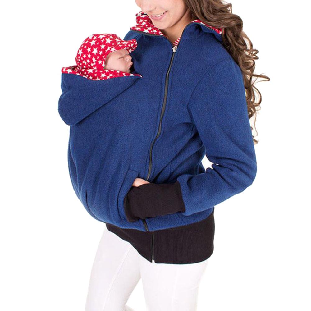 Baby Carrier Hoodie Kangaroo Coat Jacket For Mom And Baby